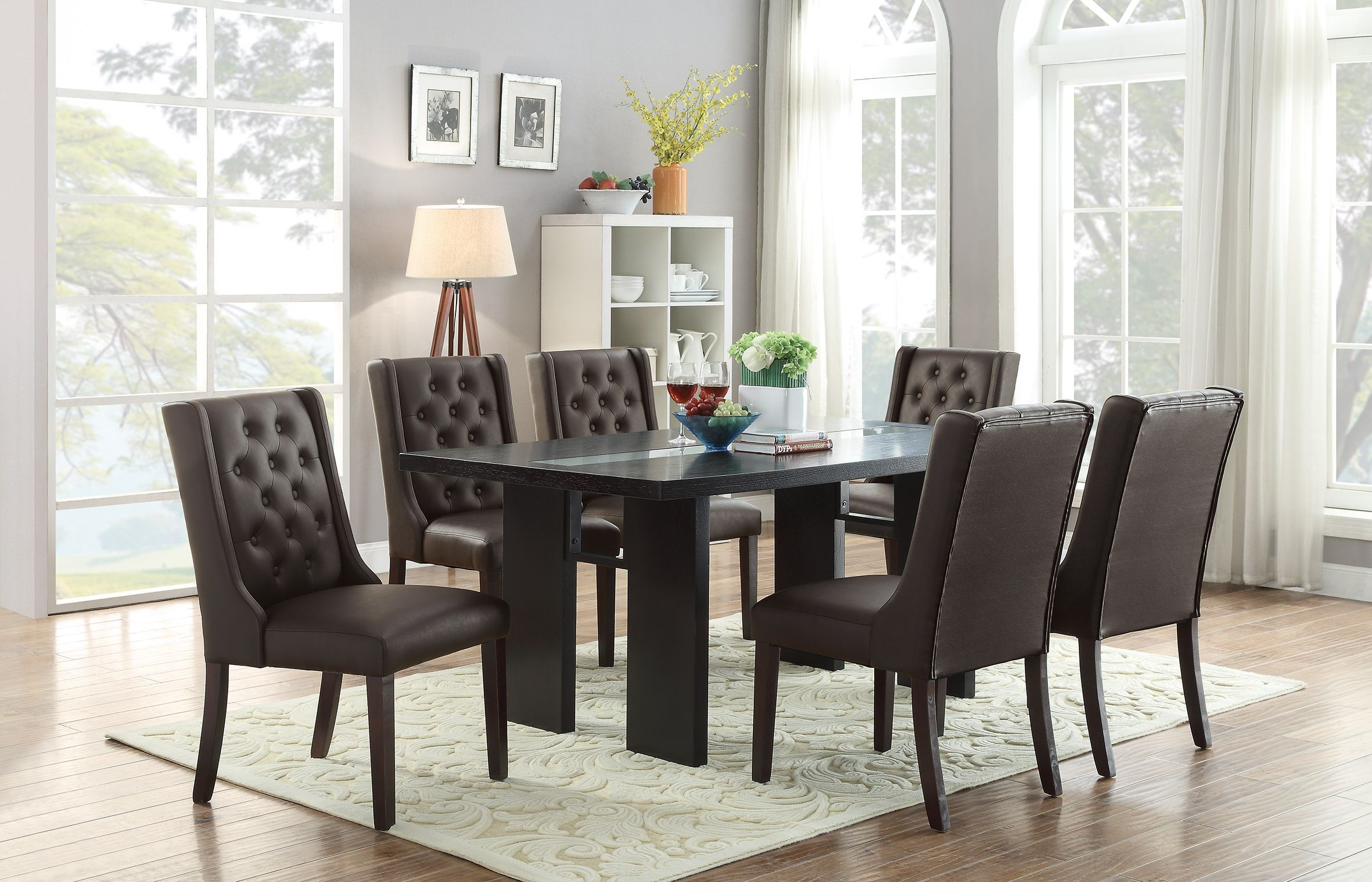 30c53694ab F1501 Espresso Dining Chair (Set of 2) by Poundex in 2019 ...