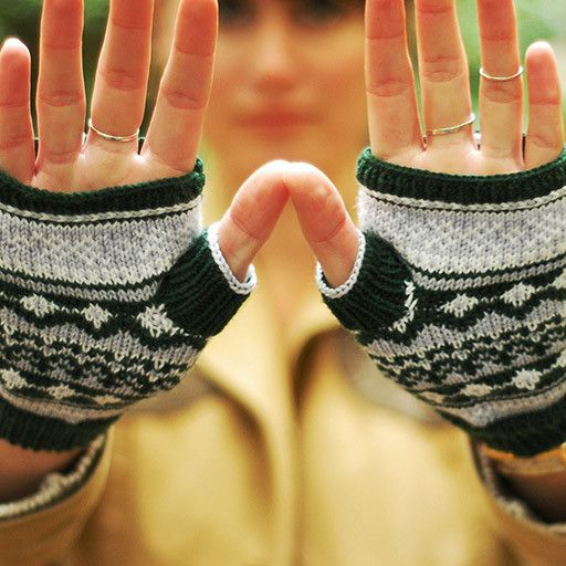 Darling 3-color Fair Isle mitts are beautiful heirloom accessories. They provide an excellent introduction to more complex stranded colorwork, and...