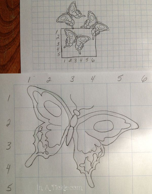 Finished Butterfly grid enlargement | GRID PROJECT | Pinterest ...