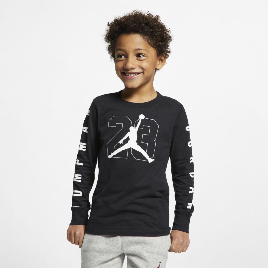 e3325db3 Jordan Jumpman 23 Little Kids' Long-Sleeve Graphic T-Shirt Size 5 (Black)