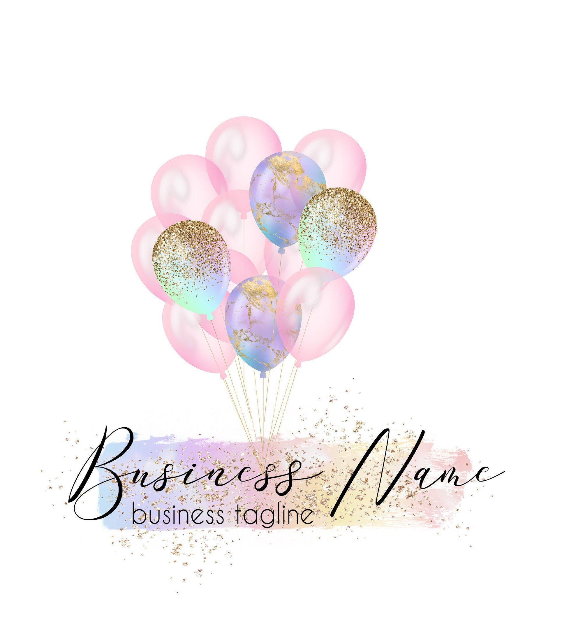 Balloons Logo Design Event Planner Logo Party Planner Logo