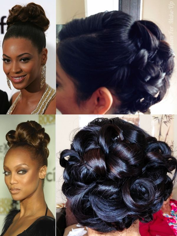Wedding Pin Curl Updo Hairstyle Inspired By Beyonce And