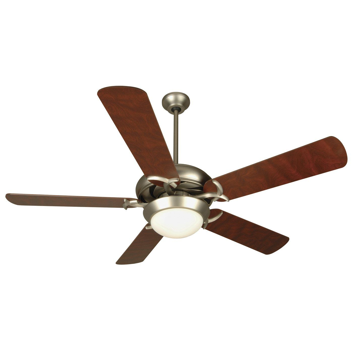 "Harbor Breeze 52"" Teolo Brushed Nickel Ceiling Fan Lowes $169"