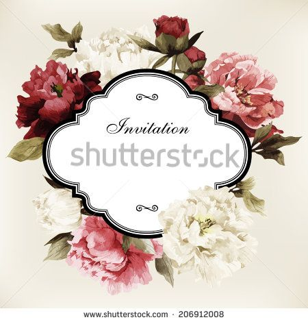 Vector greeting card with roses can be used as invitation card vector greeting card with roses can be used as invitation card for wedding birthday stopboris