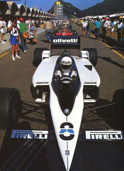 Brabham, BT55 at Brazil 1986, Elio de Angelis