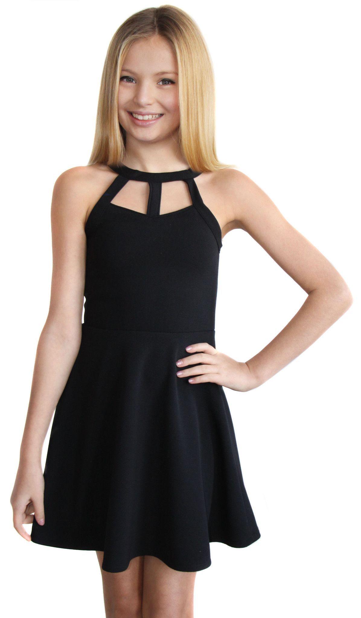 the kat dress 2631 black  dresses for tweens dresses