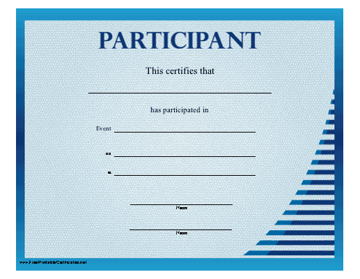 A basic certificate of participation in blue free to download and a basic certificate of participation in blue free to download and print printable certificatesfamily reunionsspanishfishingfamily yadclub Choice Image