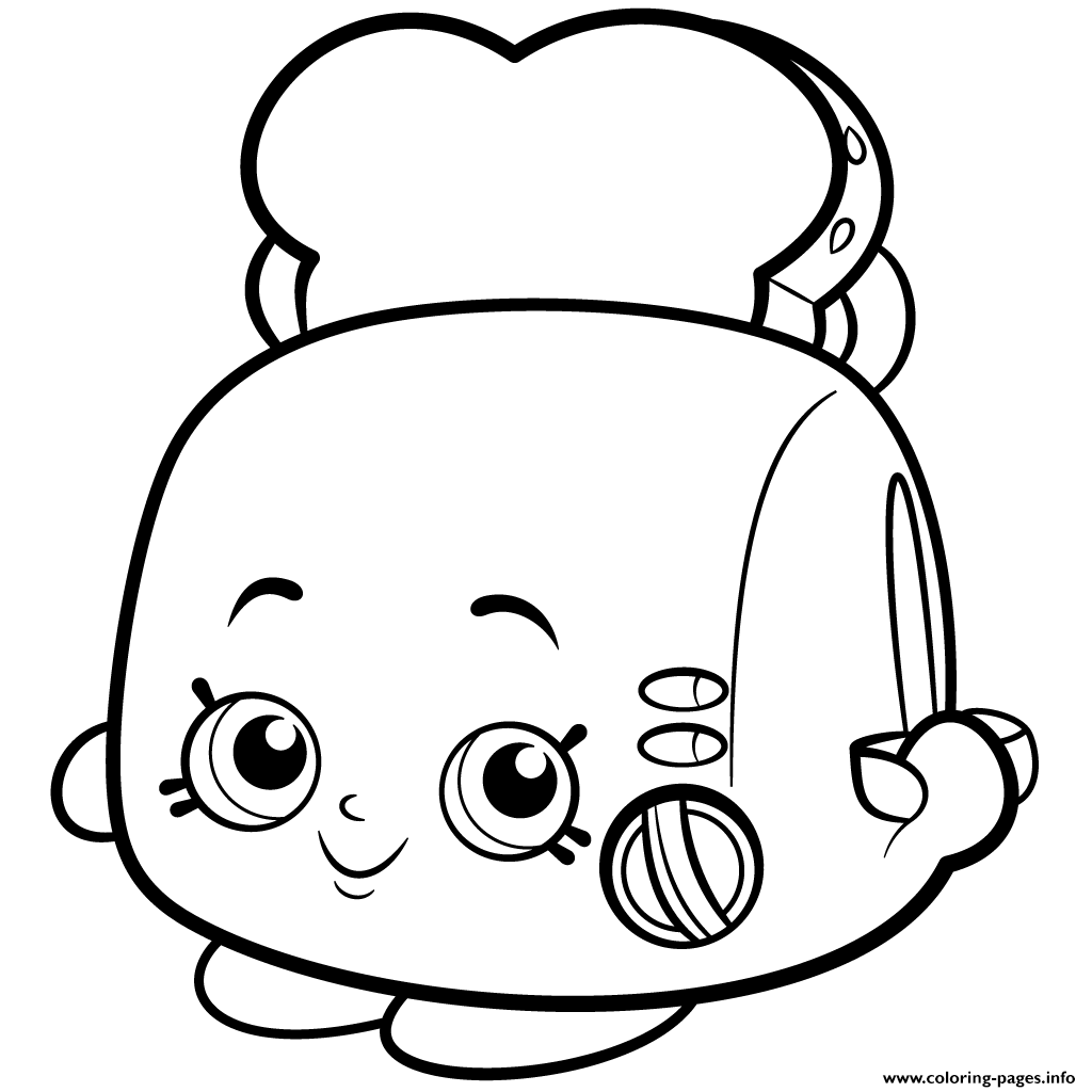 Print toasty pop white toaster shopkins season 2 coloring pages