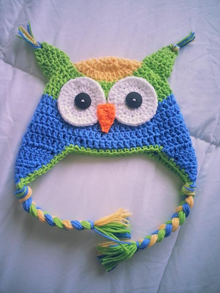 Gorro de buho en crochet | Crochet | Pinterest | Gorros lana, Para ...