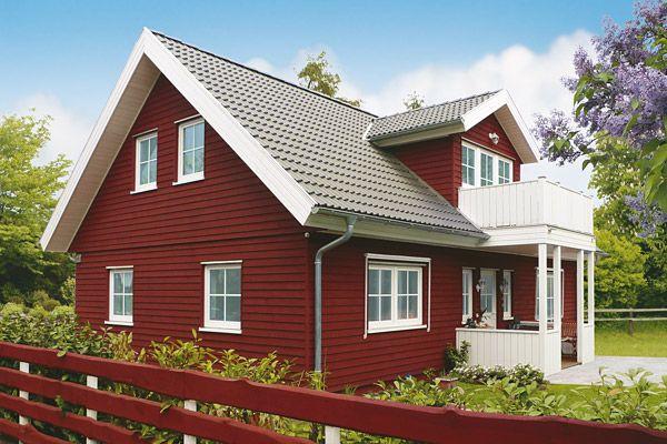 Holzhaus Im Schweden Look Schwedenhaus Schwedenhaus Fertighaus Danhaus