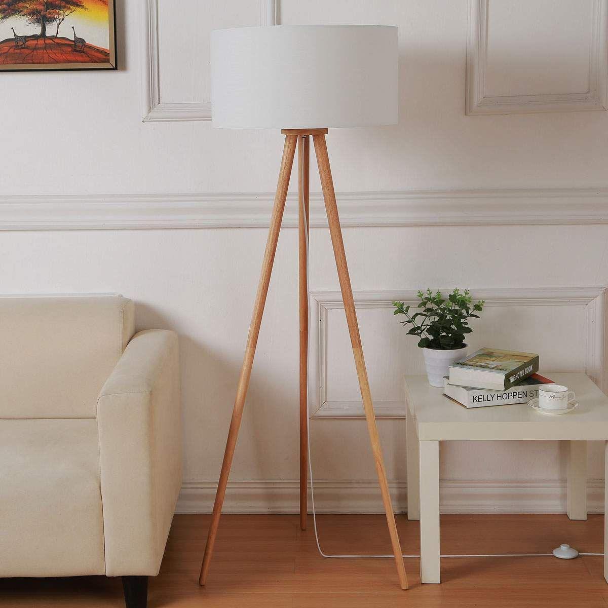 Skandinavische Stehlampe von Weiß in 2020