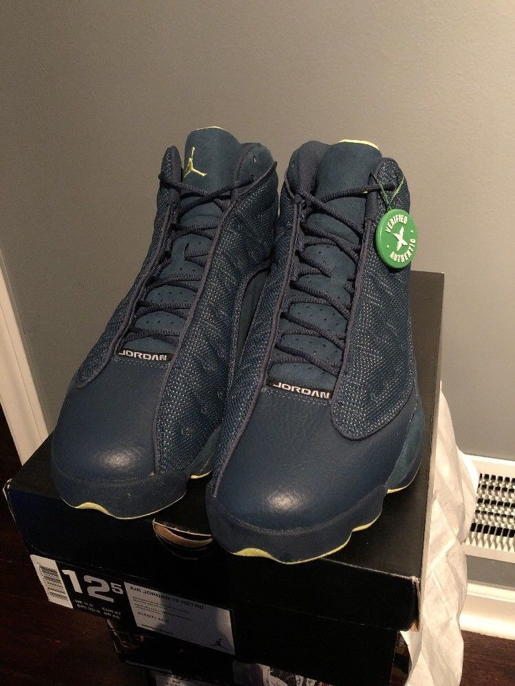 2013 Nike Air Jordan 13 XIII Retro Squadron StockX Authenticated Size 12.5  RARE 00ad576b13bd
