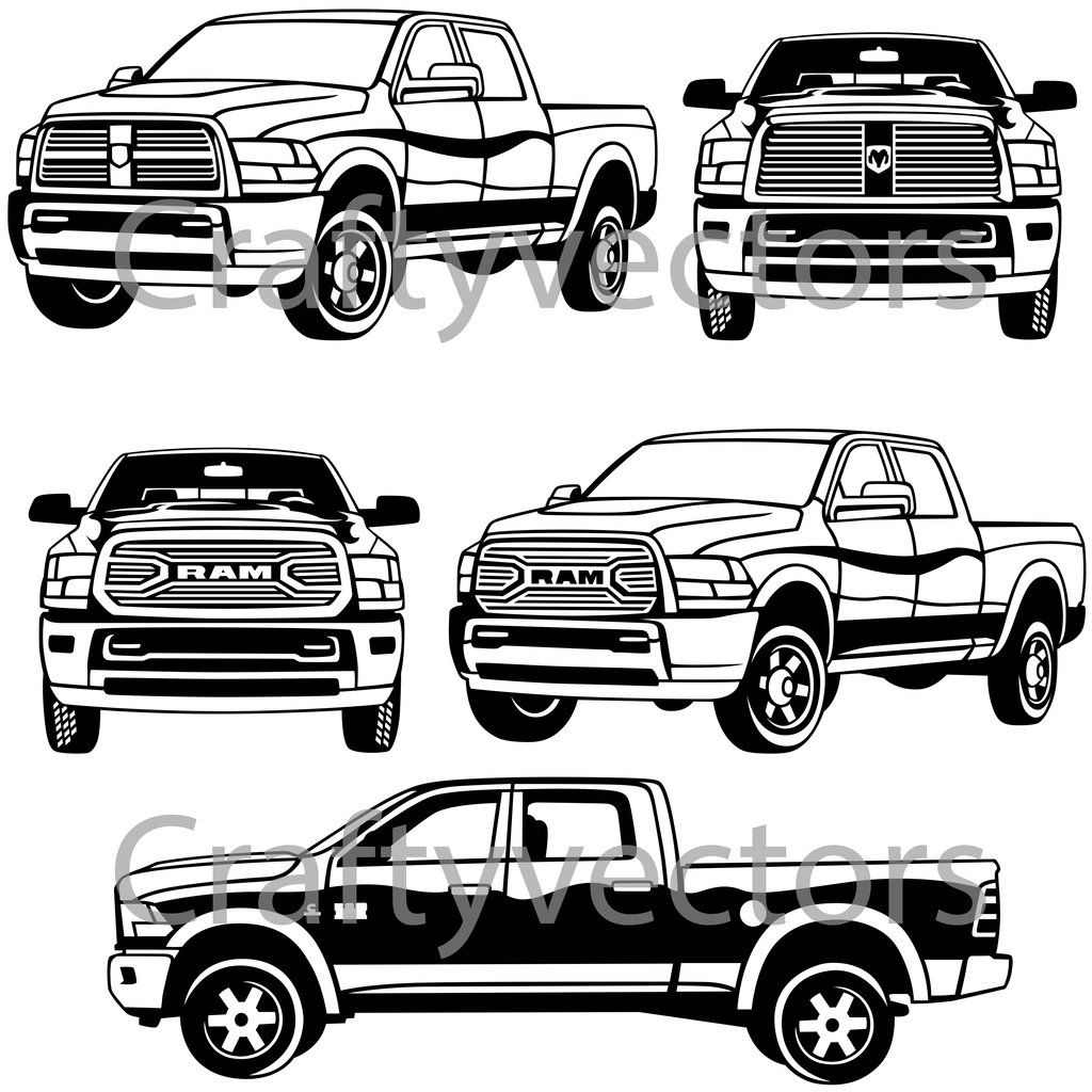 Dodge Ram Vector Dodge, Dodge ram logo, Car wall art