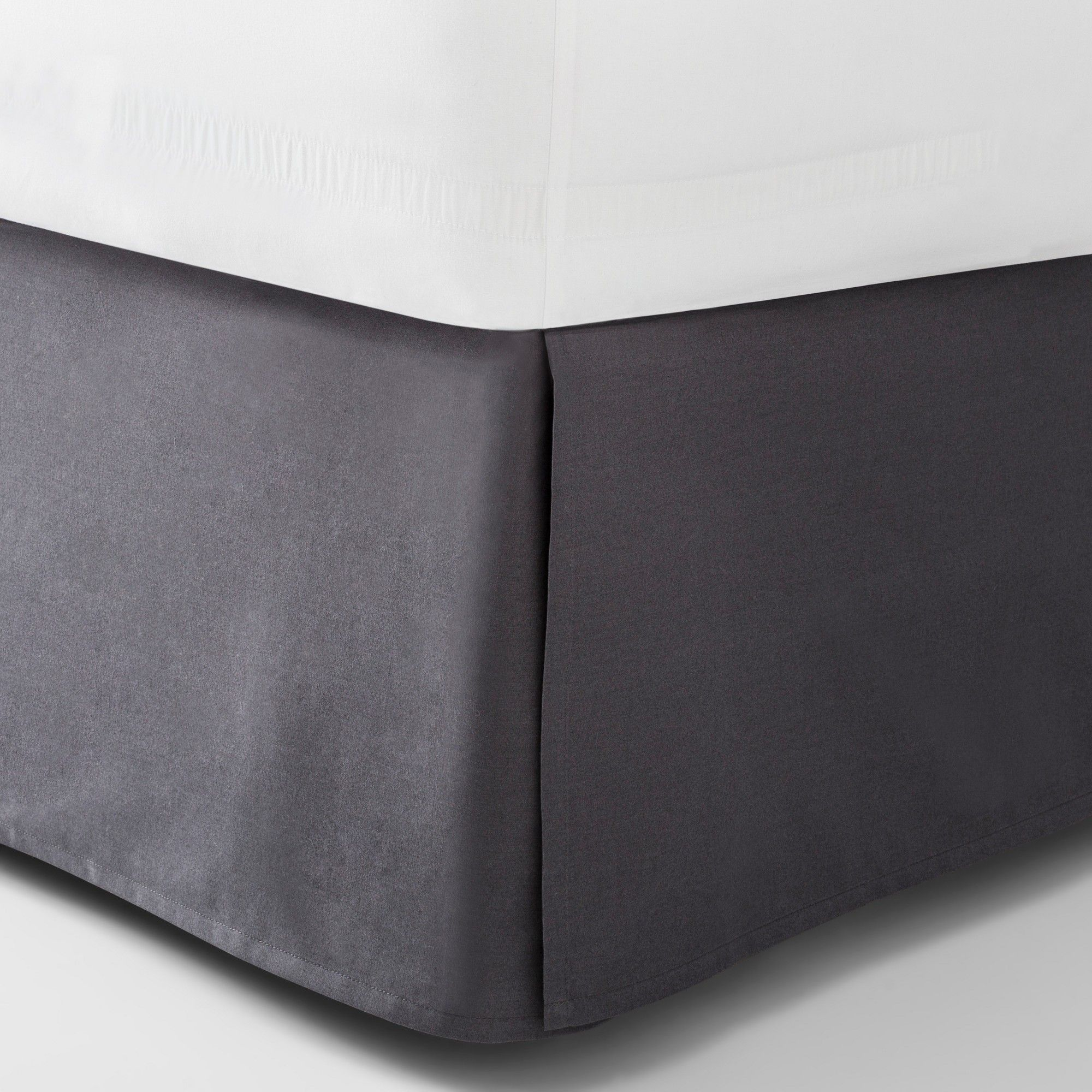 Dark Gray Solid Bed Skirt (California King) Made By