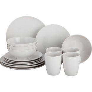 Argos - Living 16 Piece Bosa Coupe Stoneware Dinner Set ...