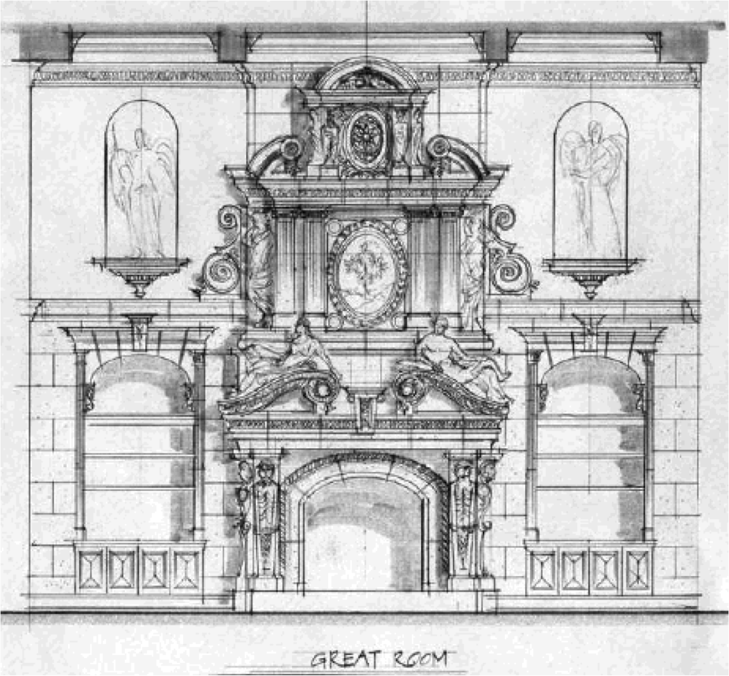 Baroque Pediment France