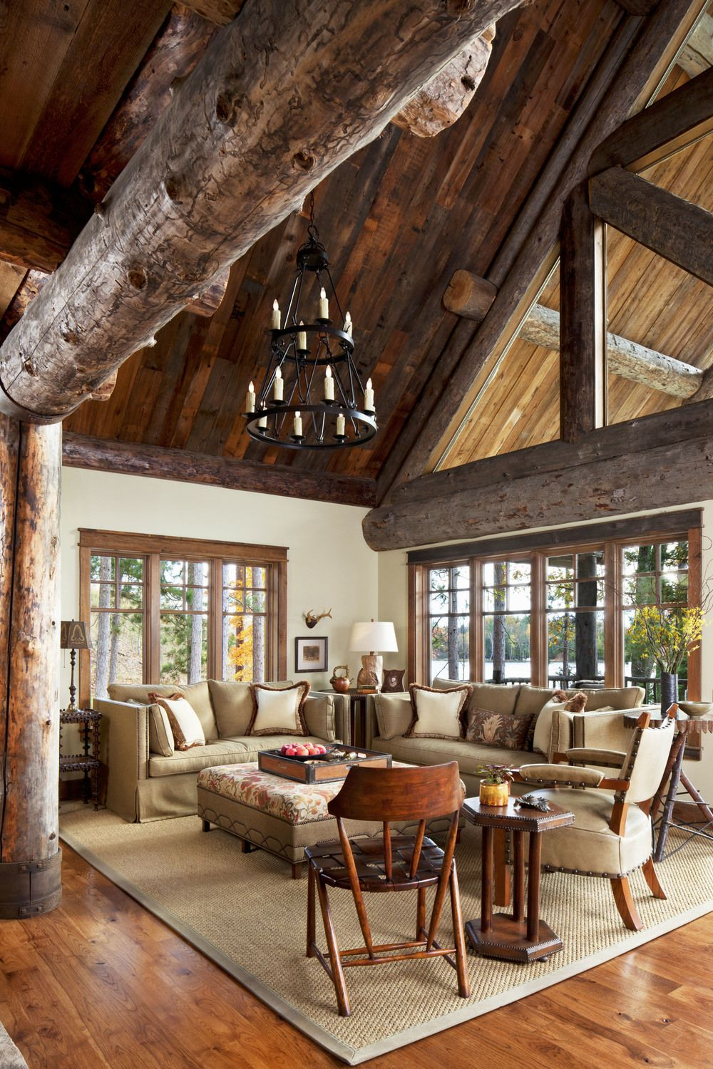 42 Ideas For Living Room Small Rustic Beams Livingroom: House Design Kitchen, High