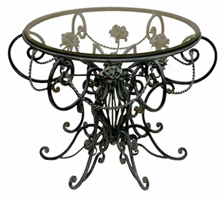 Wrought Iron Table Designs From The Historical Record SIT489
