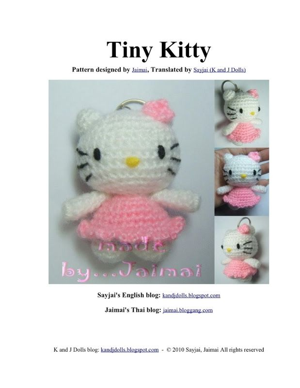 90 Hello Kitty Modèles De Crochet Amigurumi Pattern Et