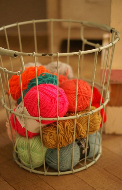 I want a wire basket for yarns!