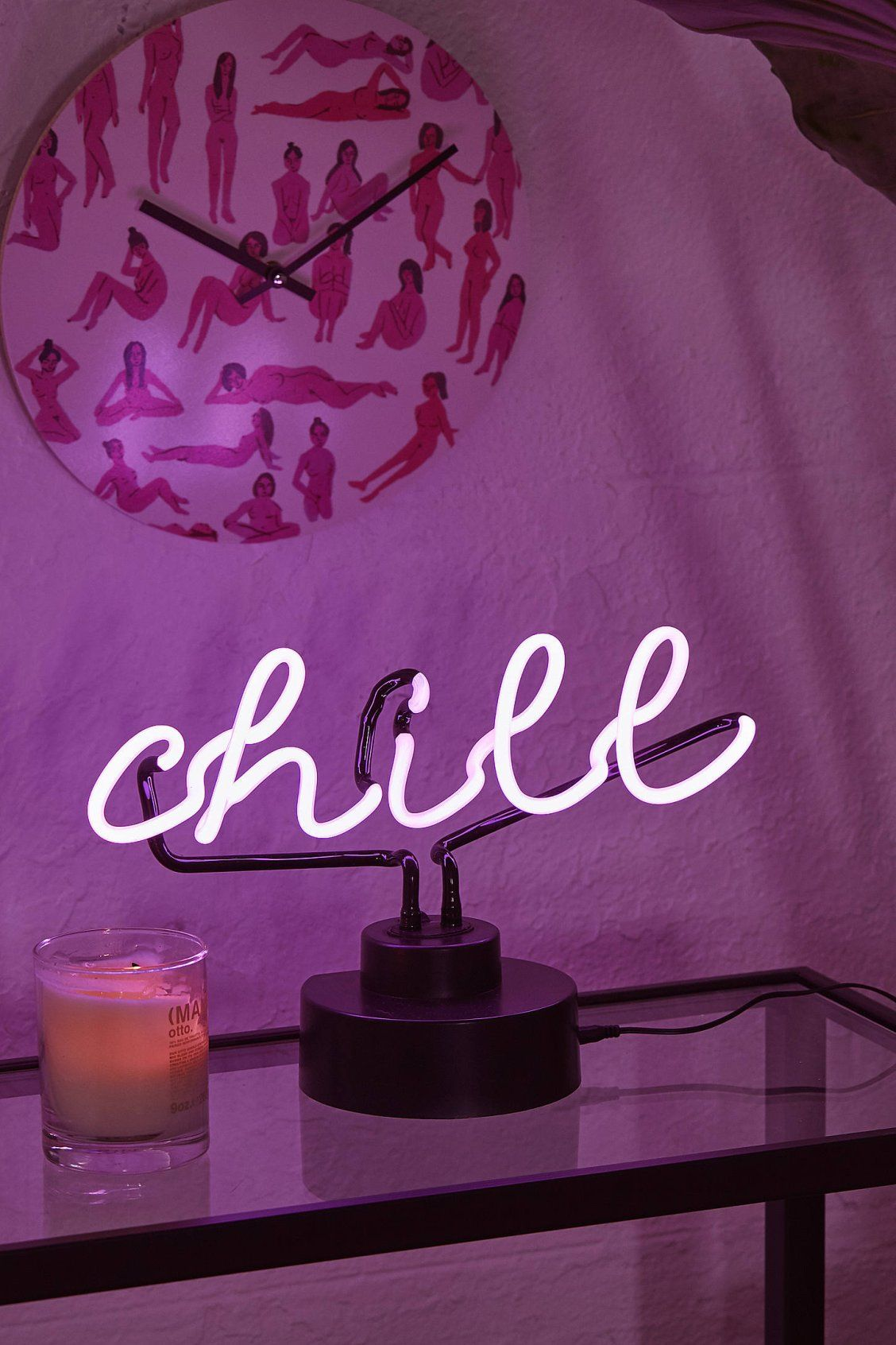 Chill Neon Sign Table Lamp | Decorate in 2019 | Neon bedroom
