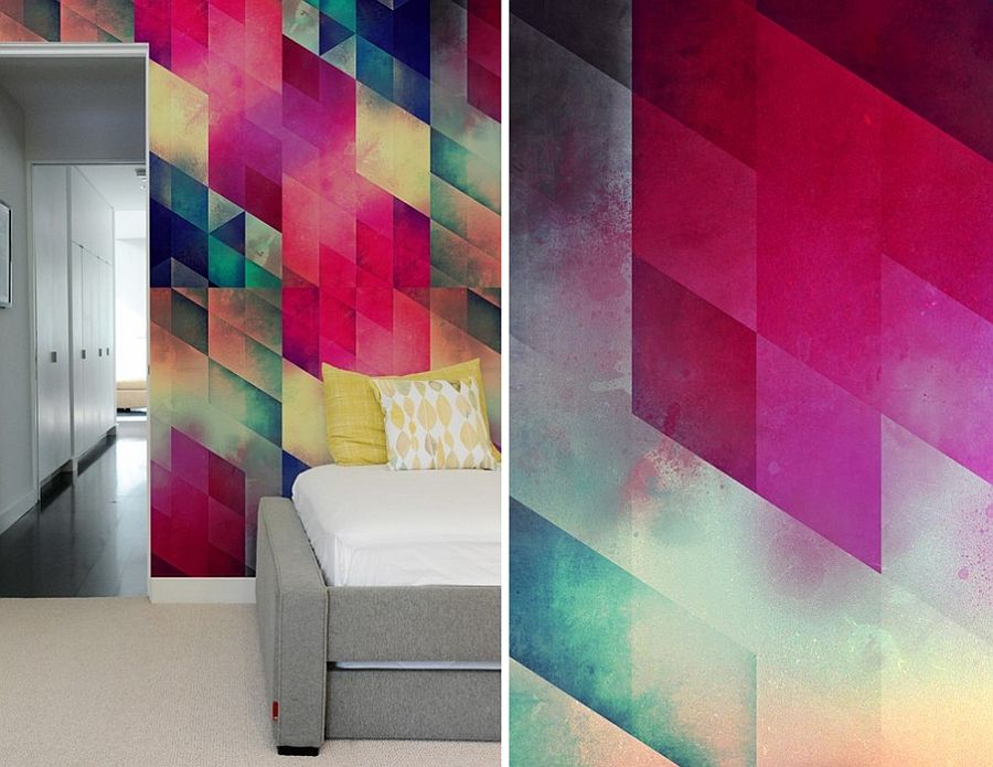 Create A Captivating Accent Wall With Geometric Patterned