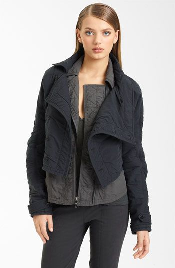 be160fb63132 Donna Karan Collection Washed Cotton Crop Jacket available at Nordstrom
