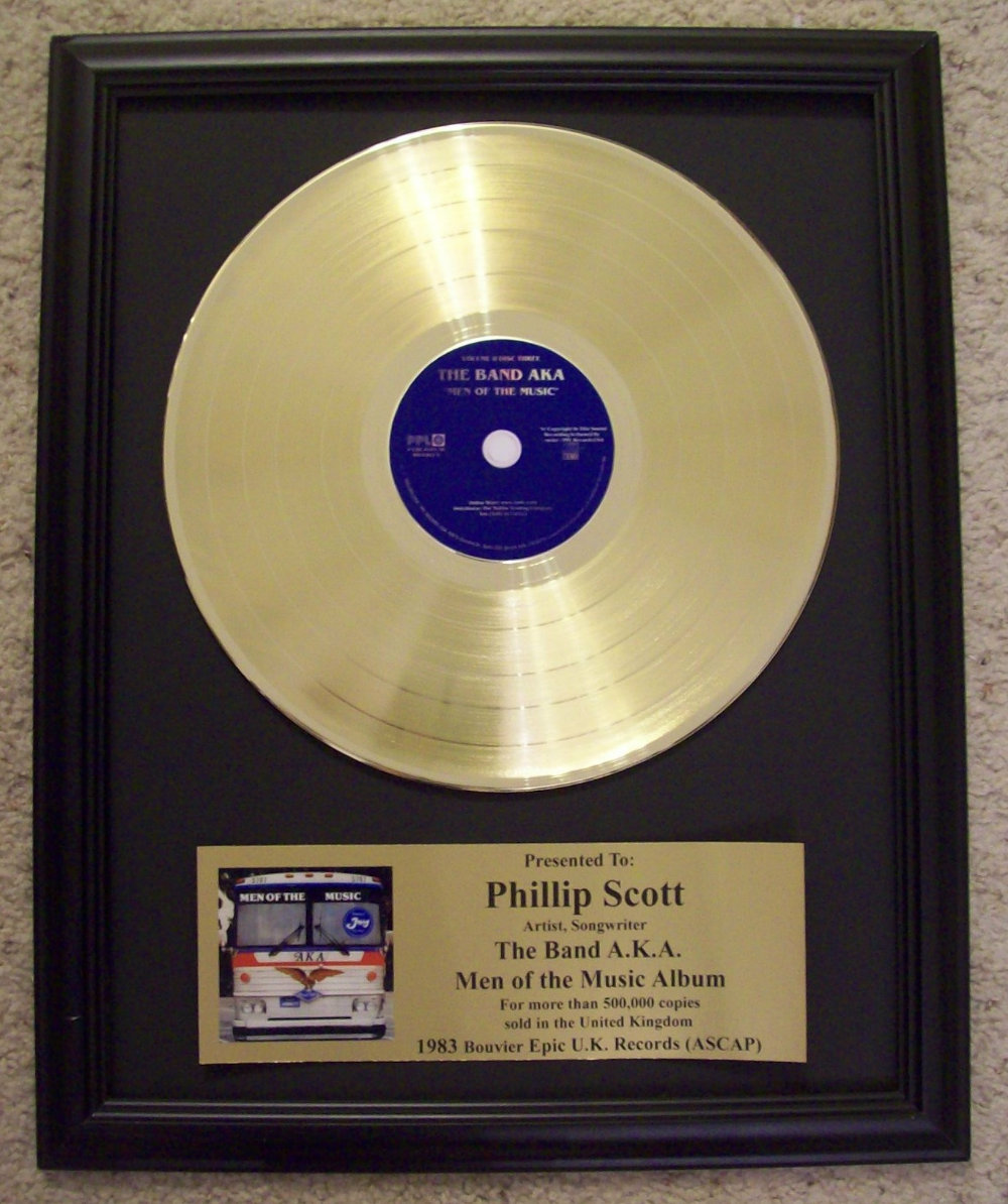 Platinum Silver Plated Lp Trophy Custom Plaques Plating Silver Plate