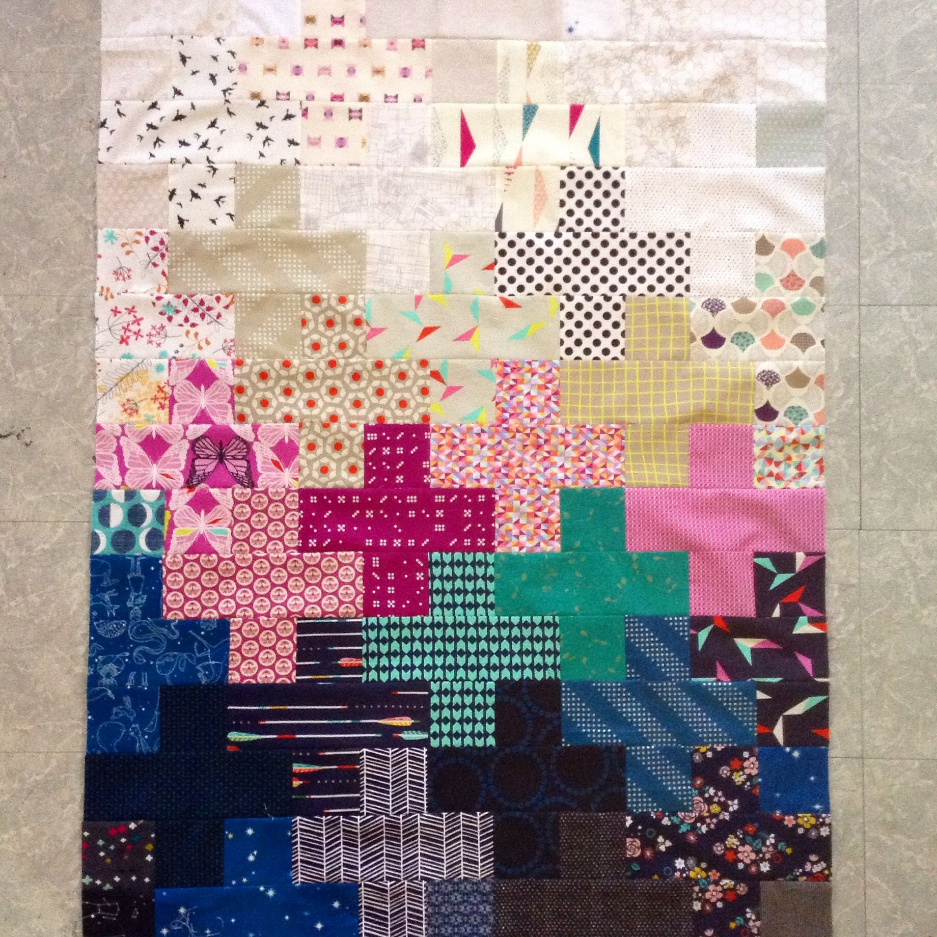 Wendy\'s plus quilt top, cotton and steel and friends! | Quilting is ...