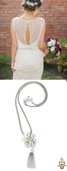A vintage Tassel Necklace for your vintage-inspired wedding! Exclusive to saintvintage.com. Get the accessory brides are loving this season!