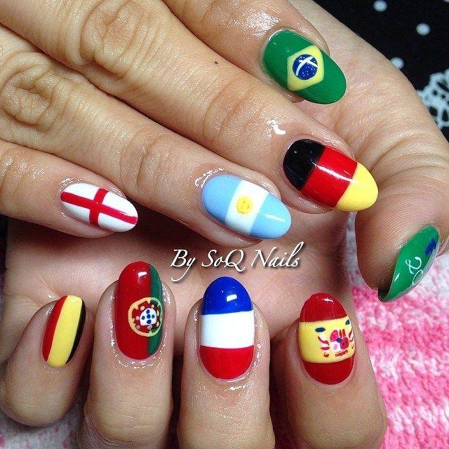 2014 world cup nail art salon