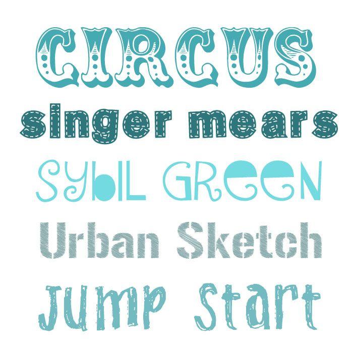 Favorite Decorative Fonts