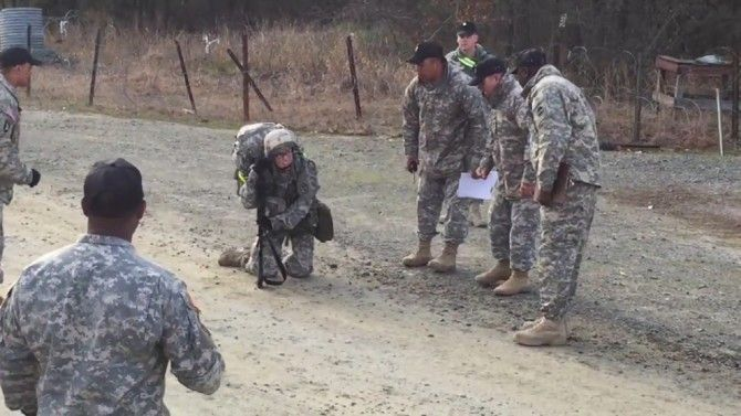 Army Captain Sarah Cudd struggled during a 12 mile march to earn a special badge but she showed her comrades how she overcame the difficulties.