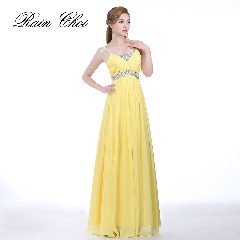Real Pictures Yellow Evening Gowns vestido de noche Black Long ...