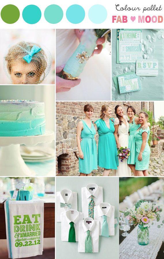 Shades Of Aqua Green Wedding Colors Green Weddings Weddings And