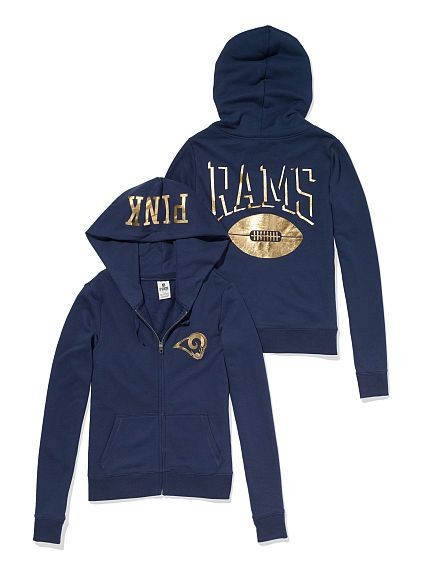 size 40 9ec7f c8abc St. Louis Rams Zip Hoodie | Fashion | La rams shirt, Ram ...