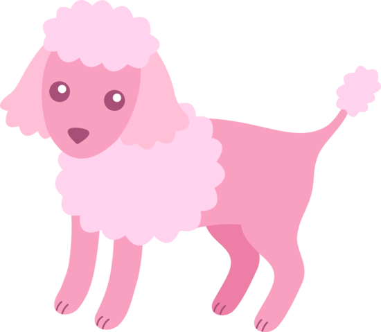 cute fluffy pink poodle free clip art free clipart pinterest rh pinterest co uk Pink Poodle Silhouette pink french poodle clipart
