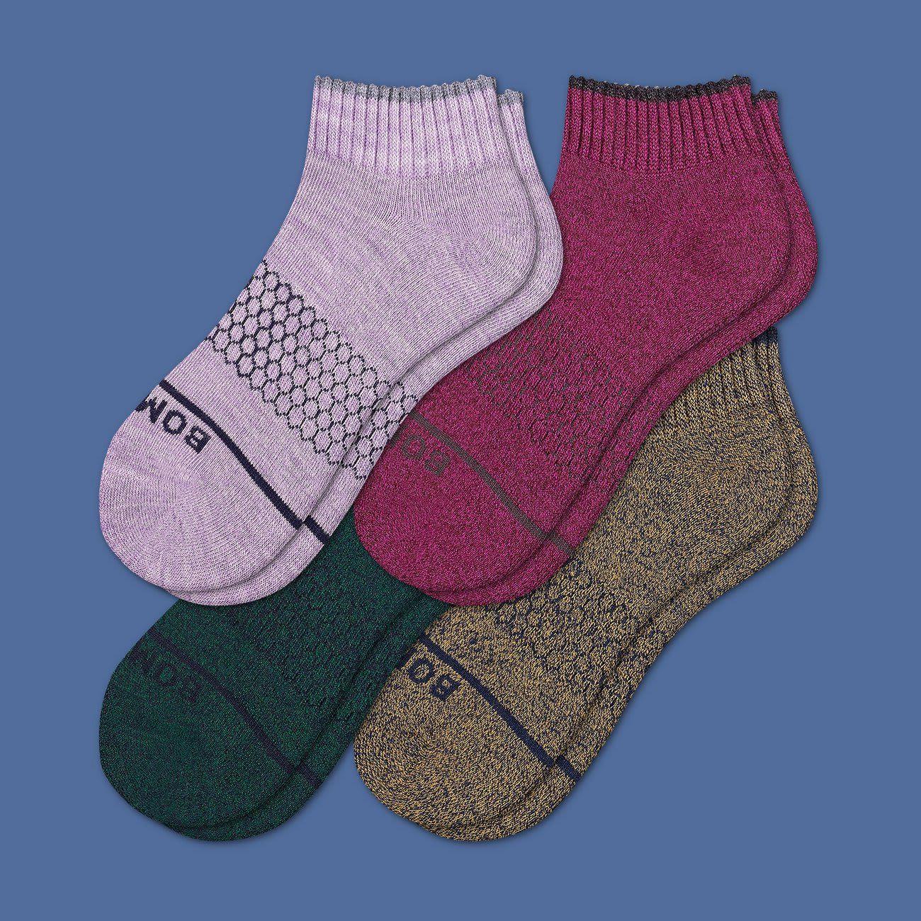 Women's Merino Wool Quarter Sock 4Pack Socks, Wool