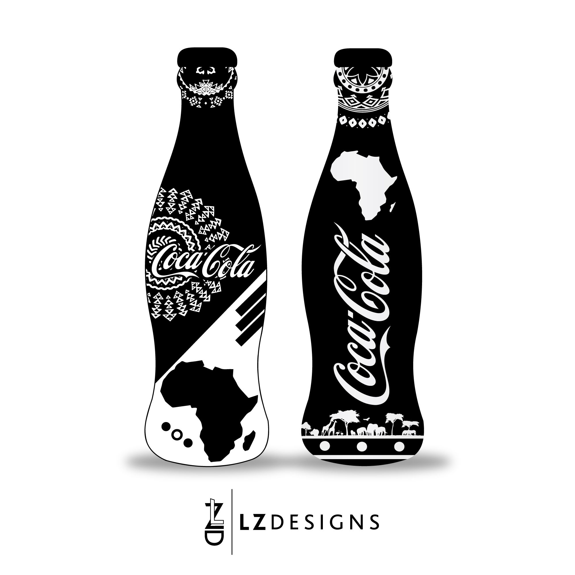 coca cola bottle i did as part of my creative life vectors pinterest