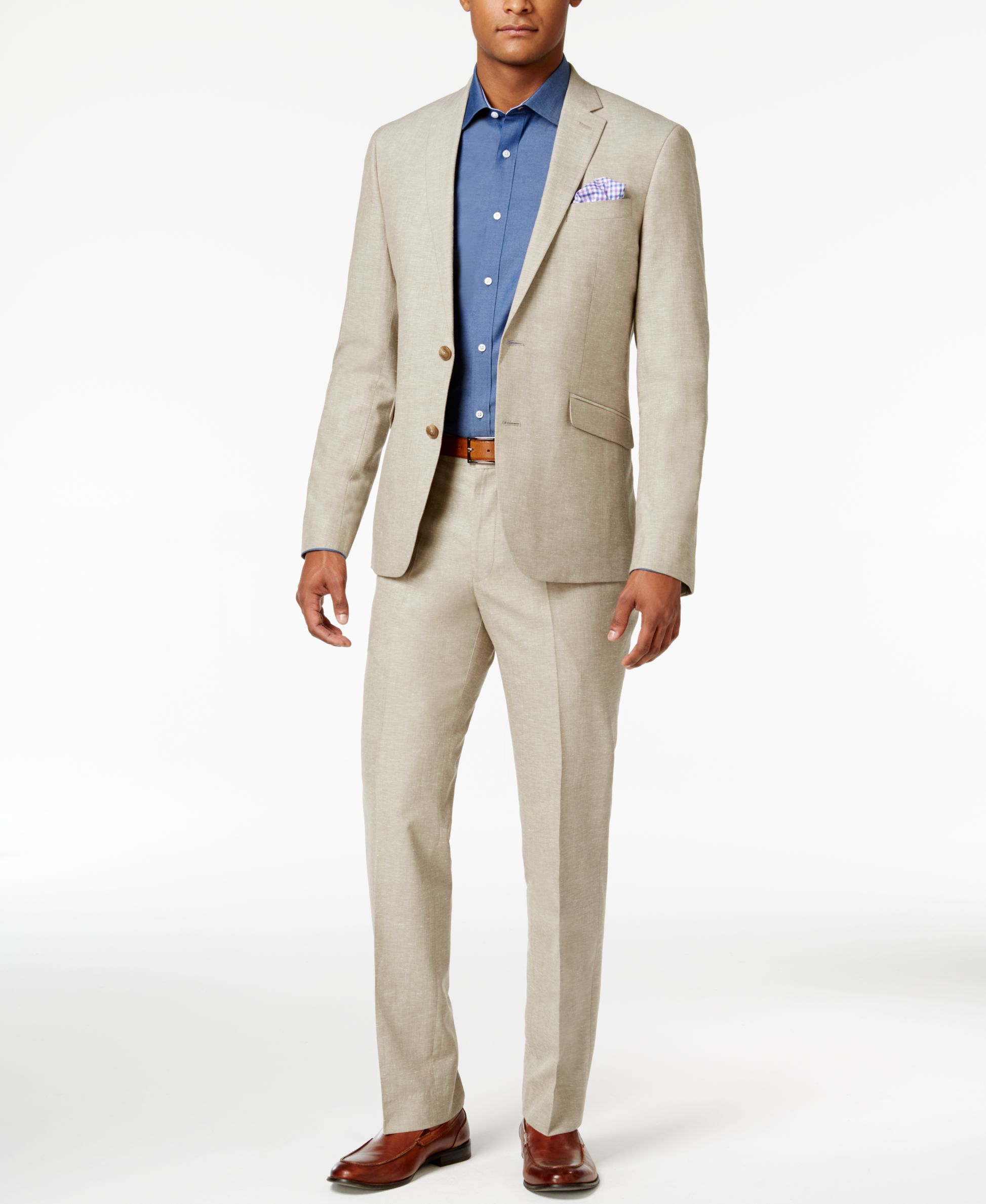 5c8c34b408 Kenneth Cole Reaction Men s Slim-Fit Tan Neat Suit