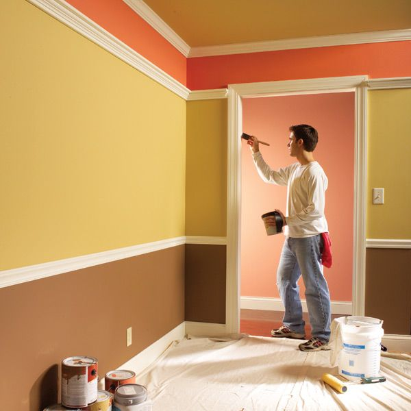 paint trim or walls first and other painting questions answered craft diy pinterest. Black Bedroom Furniture Sets. Home Design Ideas