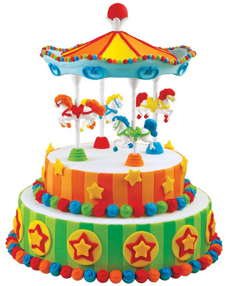 Carousel Cake Carousel Pinterest Carnival Birthday Cakes