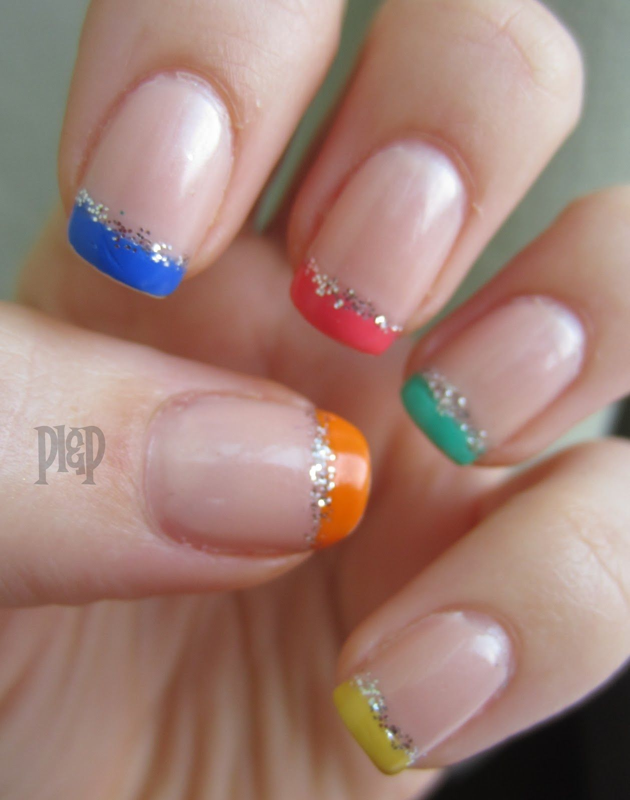 Colorful Funky French Nail Design Perfect 10 Pinterest