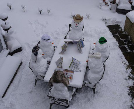 Even snowmen like to relax on a Sunday (photo submitted by Becky from Essex)