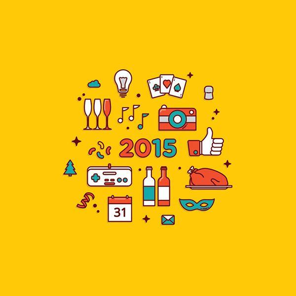 New Year wish card on Behance