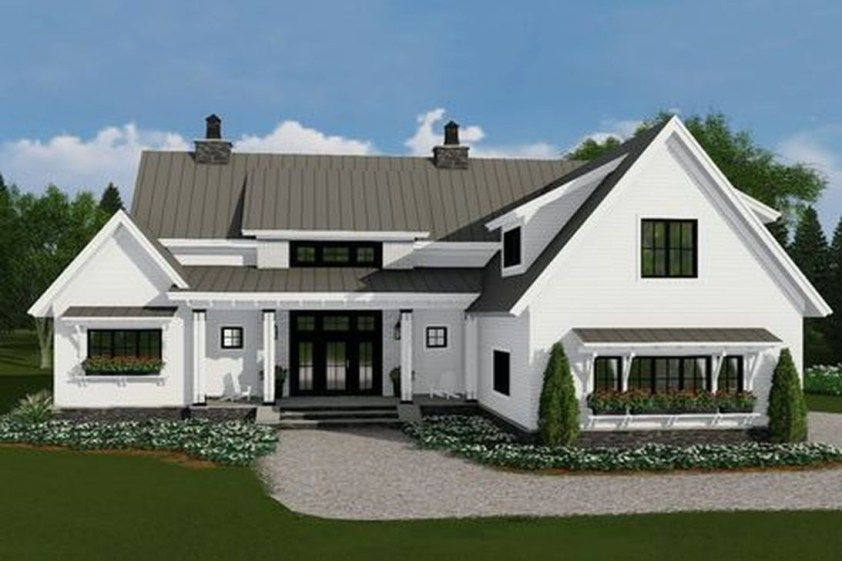 41 Cheap And Modern Farmhouse Exterior Plans Ideas House