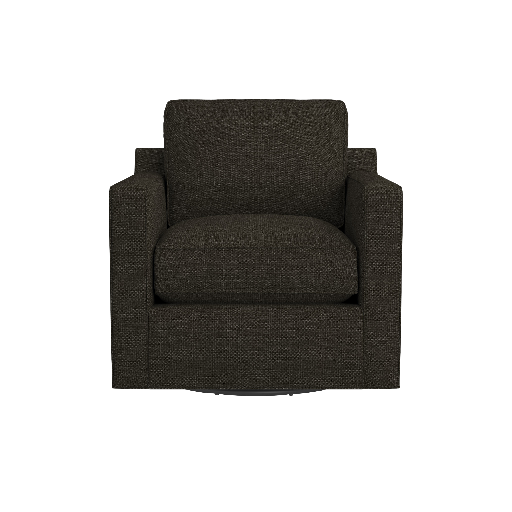 Davis Swivel Chair Crate and Barrel Leather dining