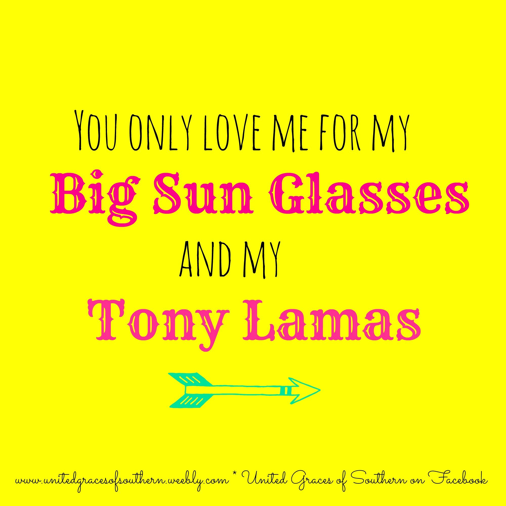 you only love me for my big sun glasses and my tony lamas - lyrics