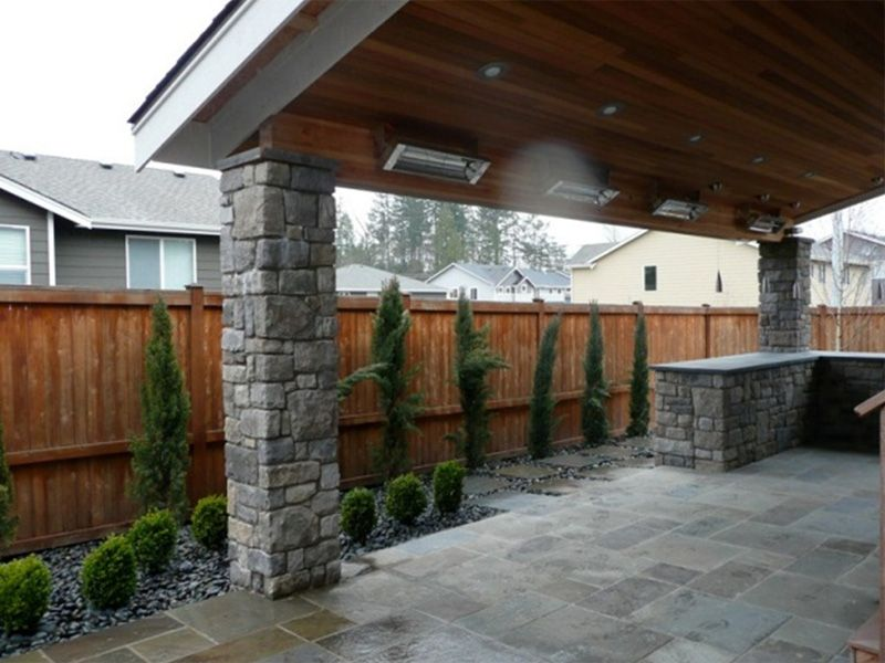 Covered Patios | Covered Patio With Shed Style Roof