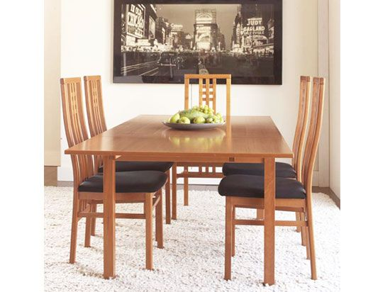 Dinex Alfa Dining Table Cherry And Scala Dining Chair Www Dania